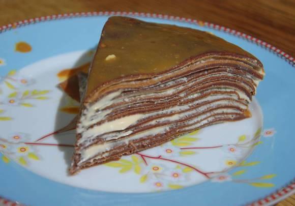 Шоколадный блинный торт – просто, быстро, вкусно
