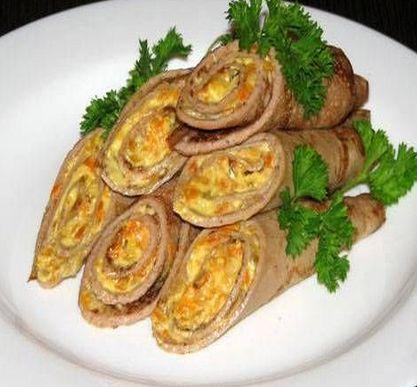 Блины с начинкой из печени – простой пошаговый рецепт вкуснейшей закуски