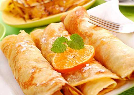 Блины с начинкой из апельсинов – рецепт вкусного и сочного десерта