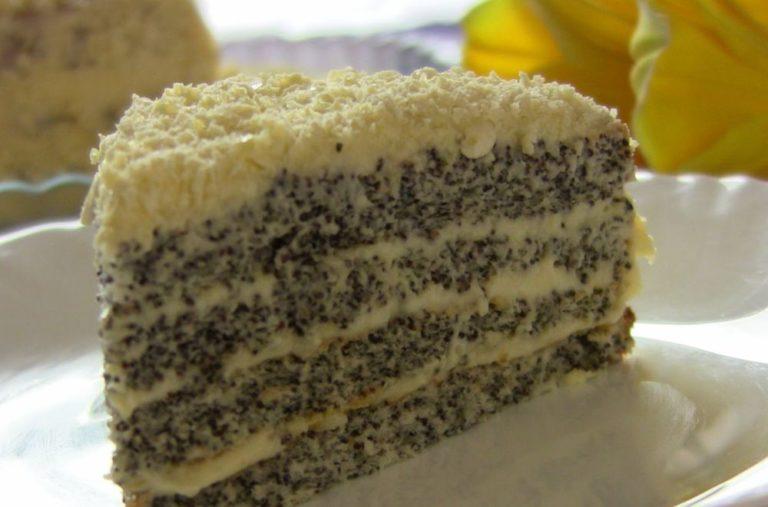 Маковый торт с грушами и белым шоколадом – рецепт необычного осеннего десерта
