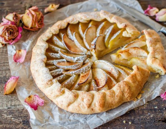 Галета с яблоками – простой рецепт выпечки