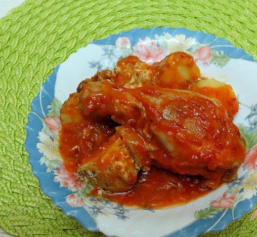 Рецепт с фото сочных куриных голеней в сладком гранатовом соусе